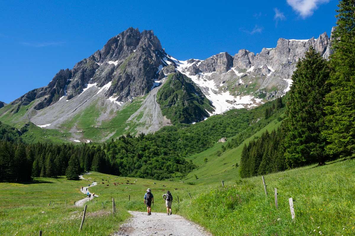 randonnée sur le tour du Mont Blanc