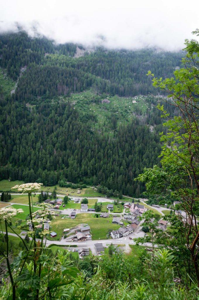 le village de Trient en Suisse