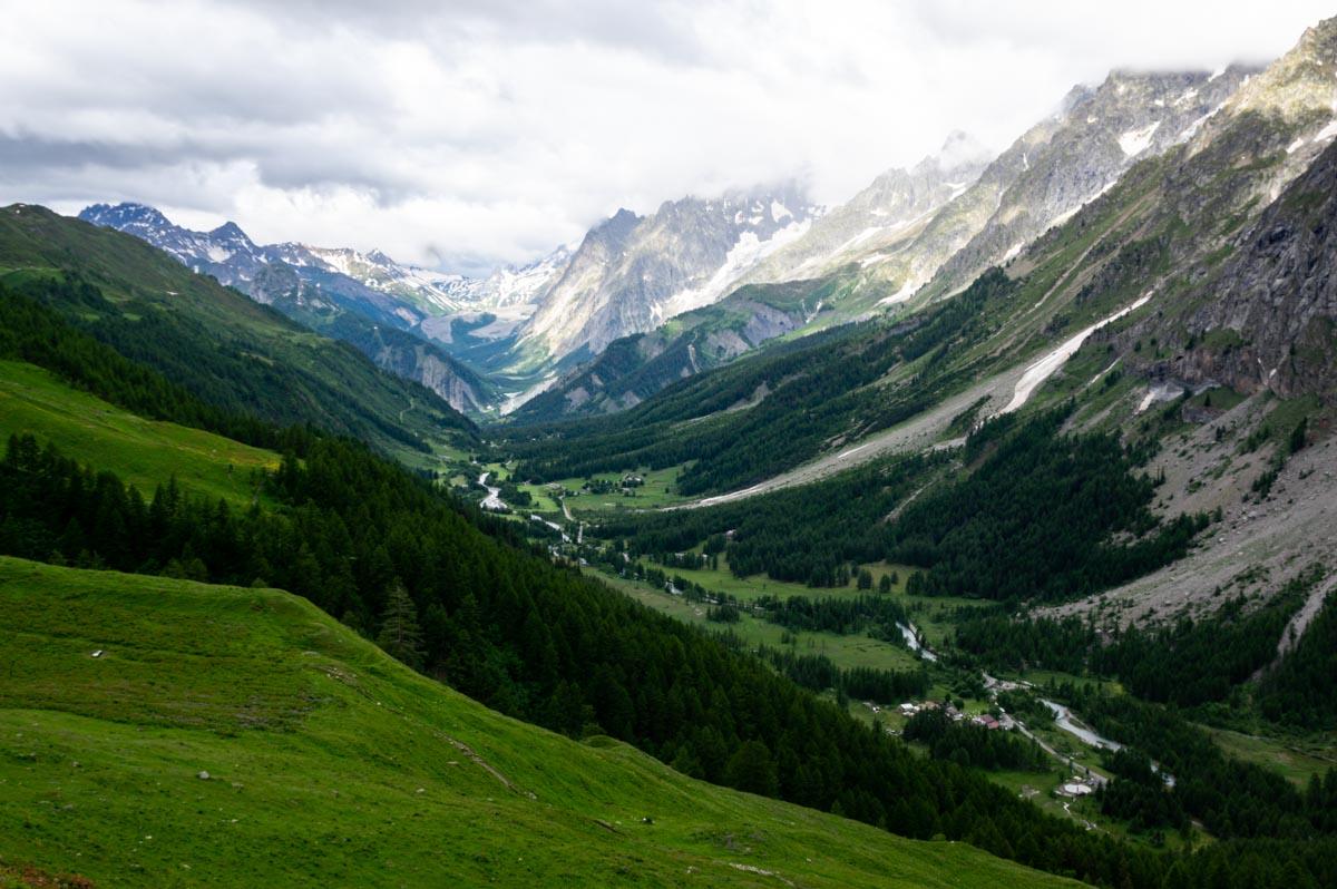 le Val Ferret, côté italien du Massif du Mont Blanc