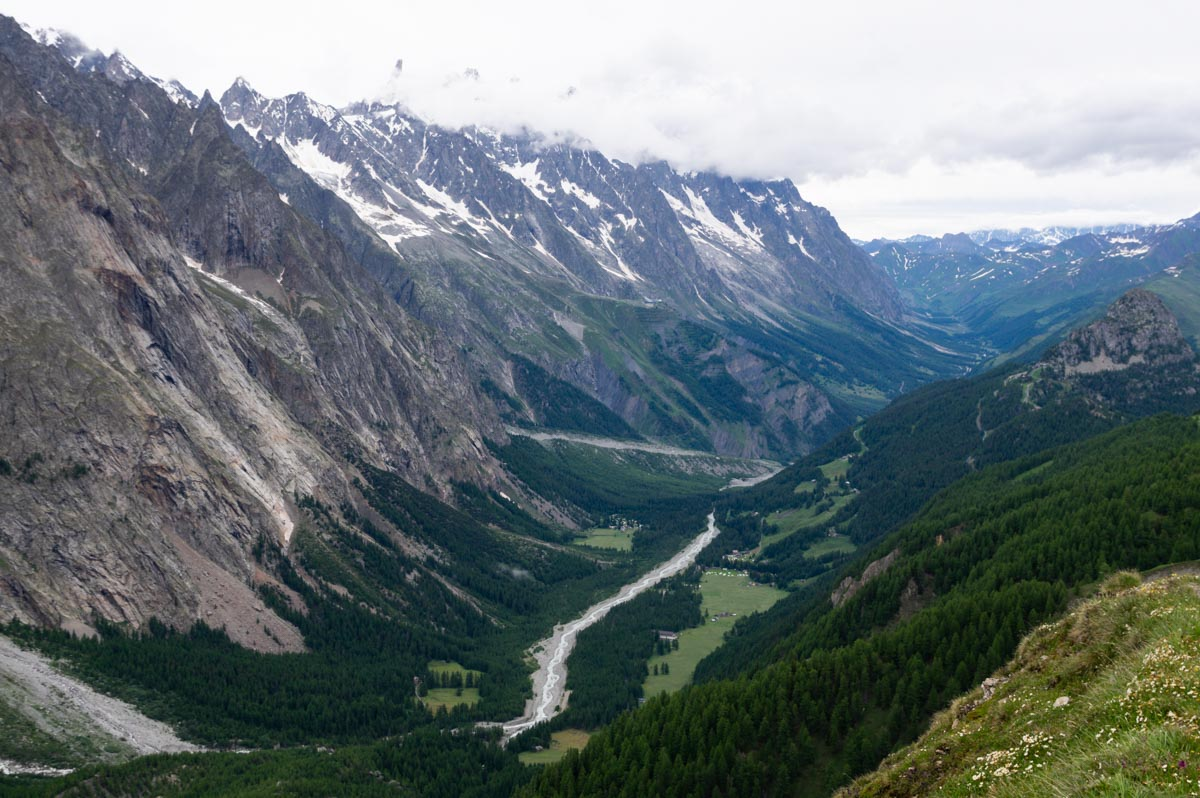Le Val Veny - le versant italien du Massif du Mont Blanc