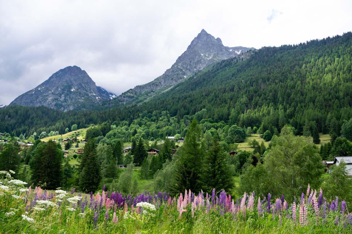vallée de Vallorcine le long du chemin des Diligences