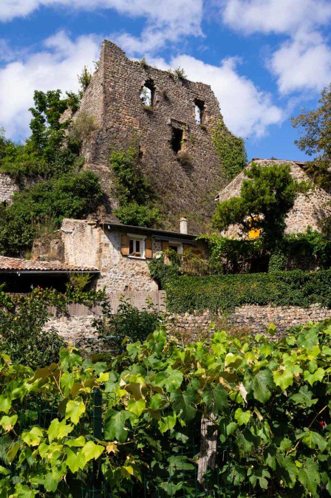 les ruines du Château de Retourtour