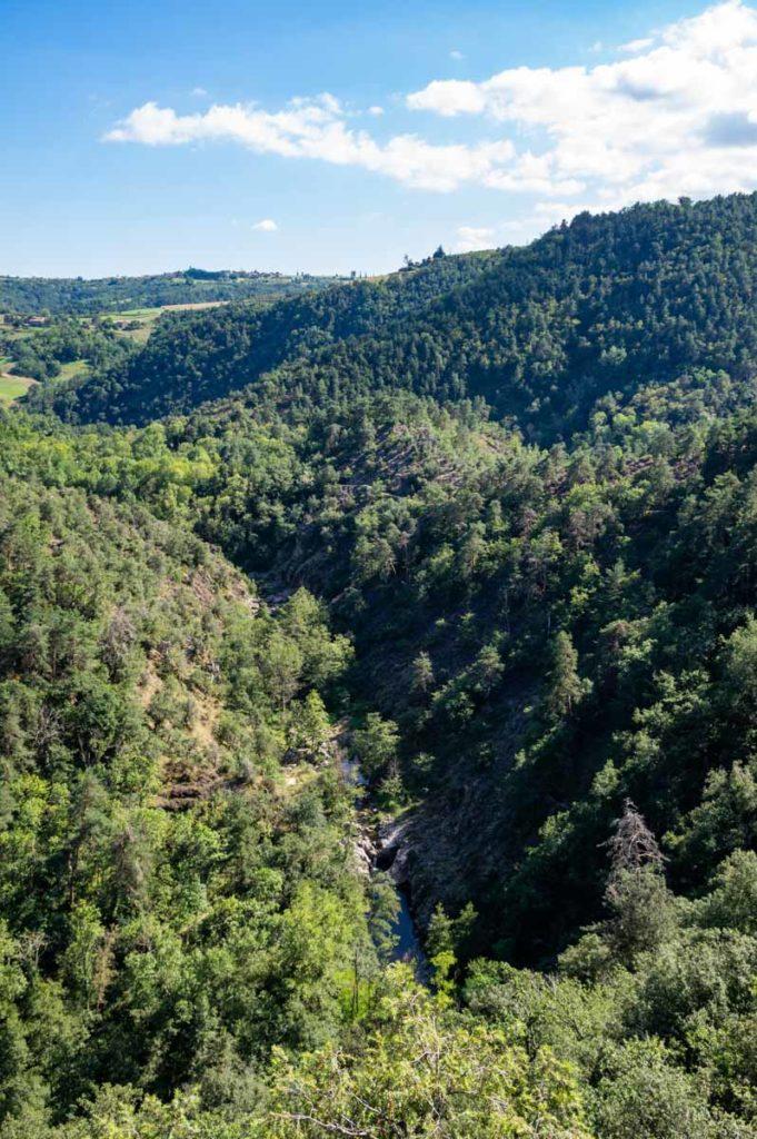 les gorges de la Daronne en Ardèche