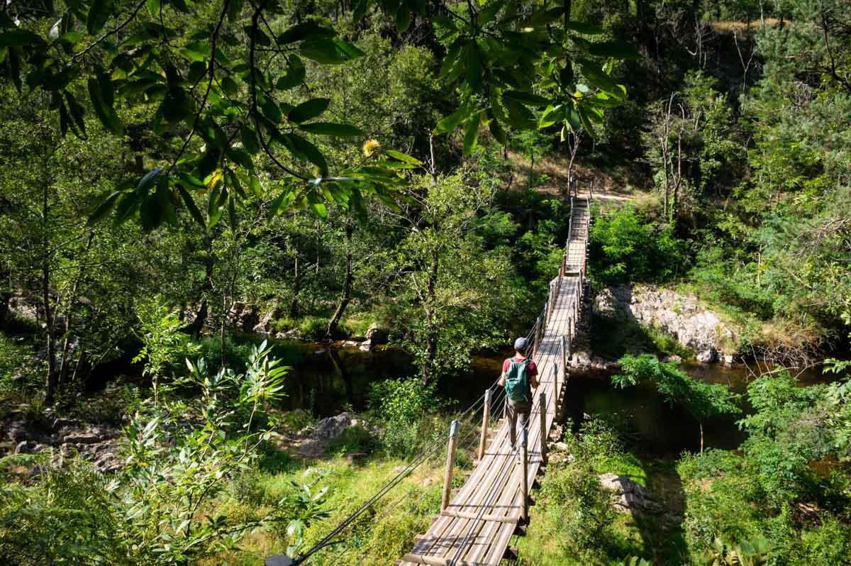 les Gorges de la Daronne et son pont suspendu