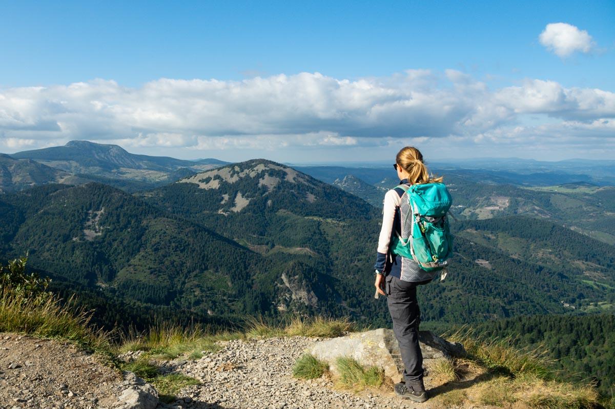 le panorama au sommet du Mont Gerbier de Jonc