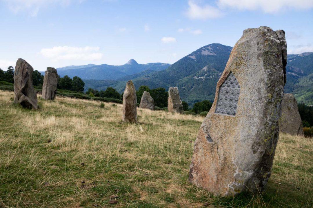 L'Ere du Tchier de Borée avec vue sur le Mont Gerbier de Jonc