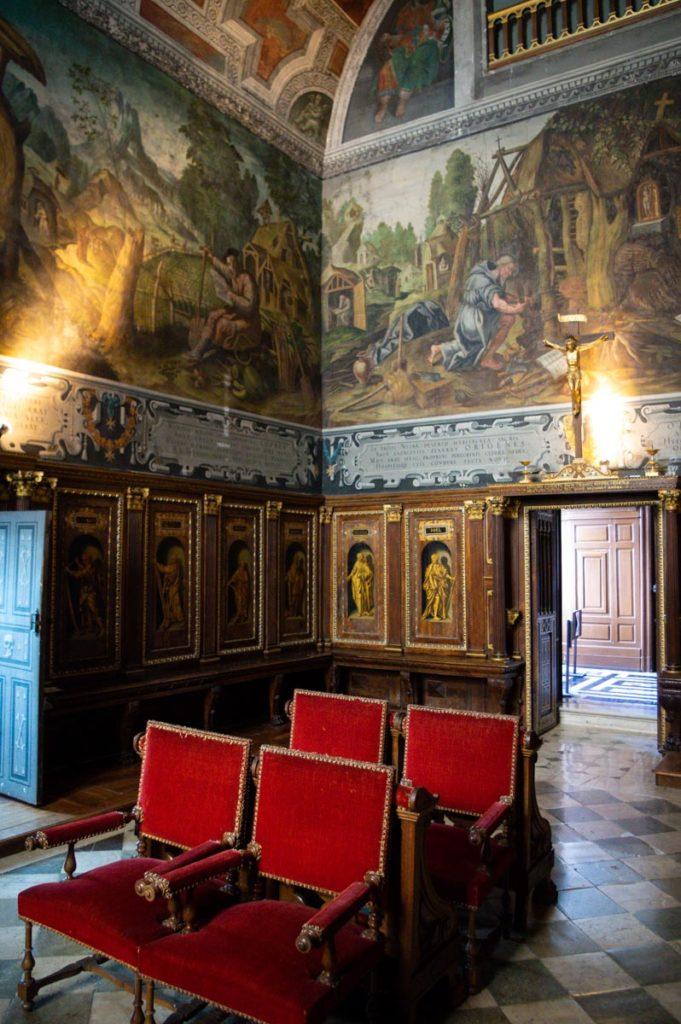 la chapelle peinte du Château d'Ancy le Franc
