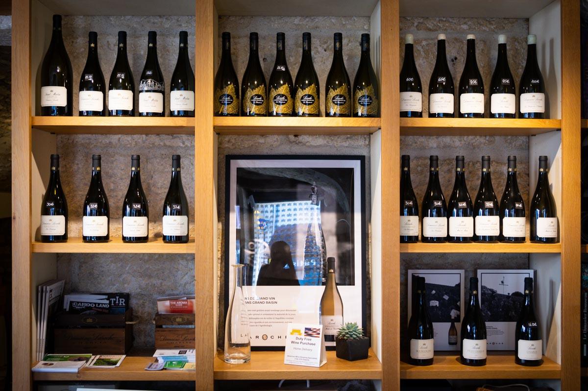dégustation des vins de Chablis du Domaine Laroche