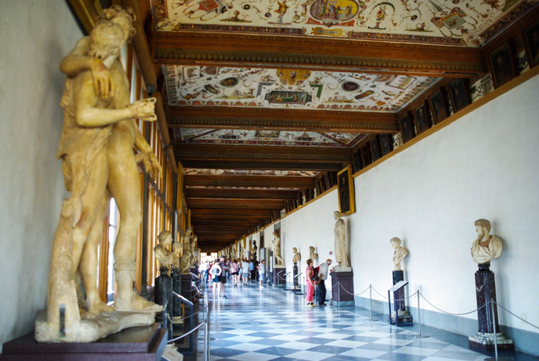 Le musée de la Galerie des Offices à Florence