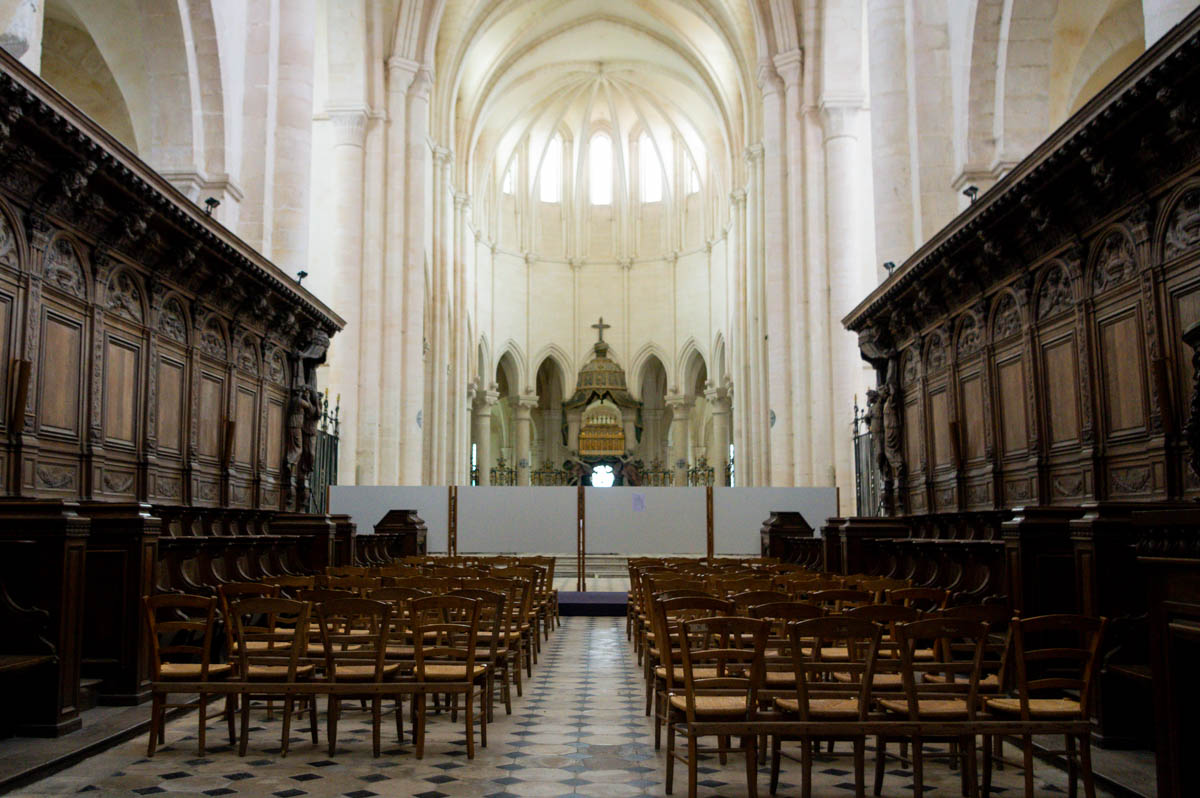 la nef de l'Abbaye de Pontigny
